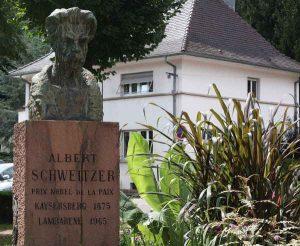 Büste von Albert Schweitzer in Kaysersberg.