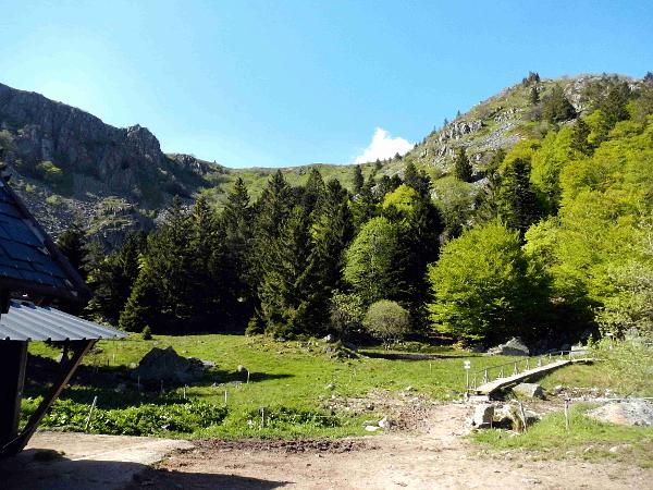 Drei-Seen-Tour: Holzsteg auf dem Weg nach oben.