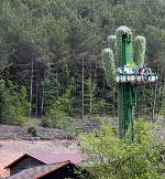Freier-Fall-Kaktus im Freizeitpark Fraispertuis City