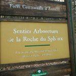 Schild am Anfang des Arboretum Anould.