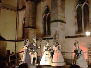 Karneval Remiremont bei Nacht