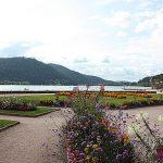 Lake Gerardmer. Flowered water front.