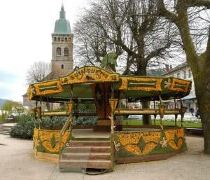 Das Narzissenfest Gerardmer. Fête des jonquilles.