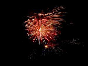 Night Scene. Fireworks.