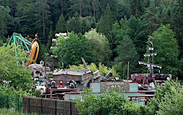 Piratenschiff im Freizeitpark Fraispertuis City