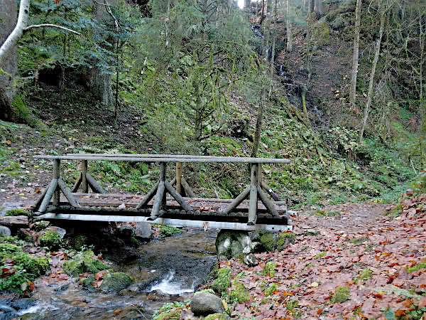 Das Wasser des Saut de la Bourrique fällt in den Bach Ruisseau du Phény, der dann bei Ramberchamp in den Lac de Gerardmer mündet.