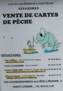 Schild mit Infos zur Angelkarte