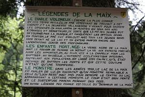 Legendentafel am Lac de la Maix