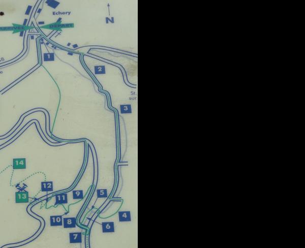 Silberminen-Rundweg: Karte des Rundwegs.