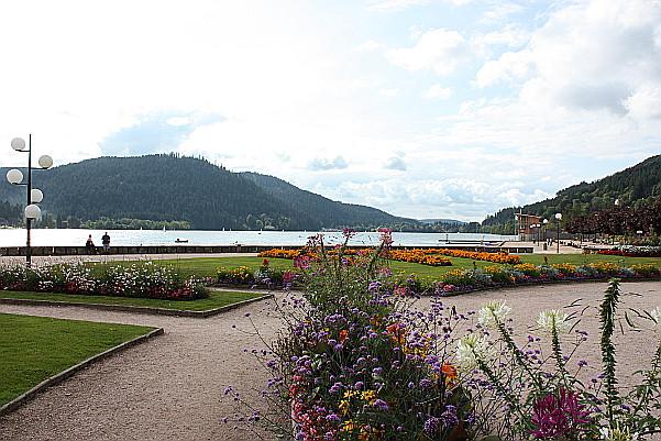 Lac de Gerardemer. Une promenade fleurie.