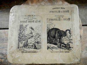 Originale Ansicht eines Stempels.