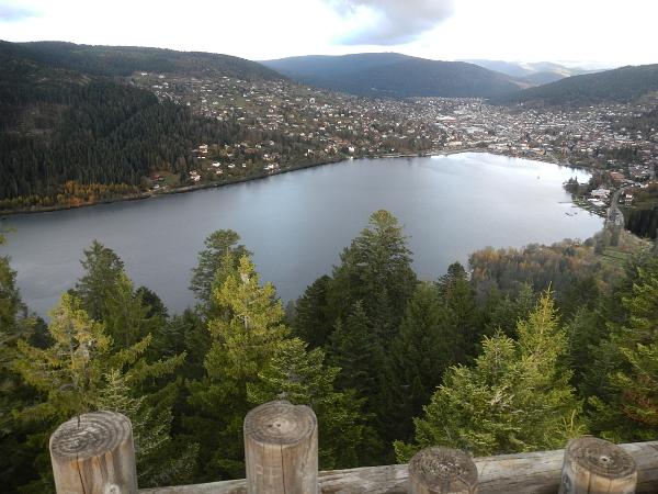 Vue sur le lac de Gerardmer