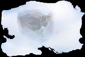 Die Weisse Frau von der Burg Reichenstein in einer Wolke