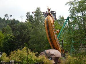 swing boat in the leisure park fraispertuis